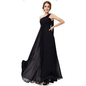 NWT Ever Pretty Black One Shoulder Evening Gown 4